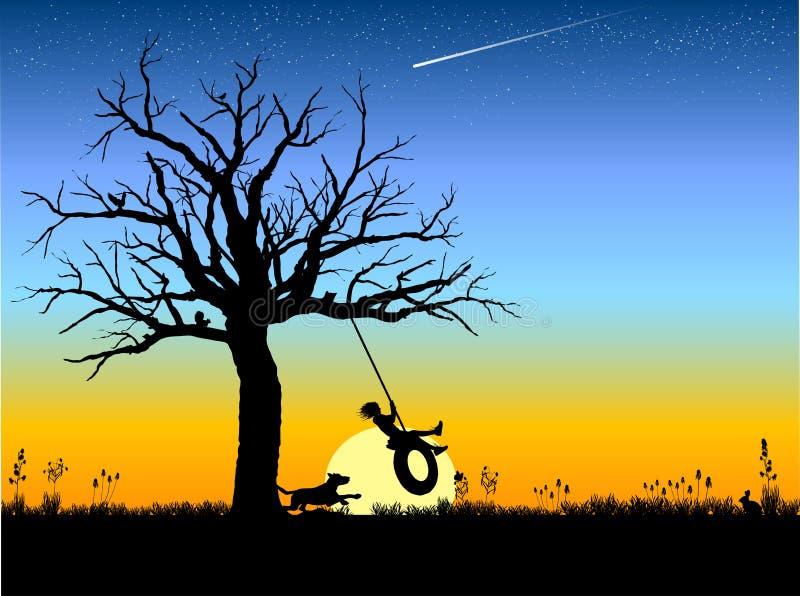 Tire_swing illustration de vecteur