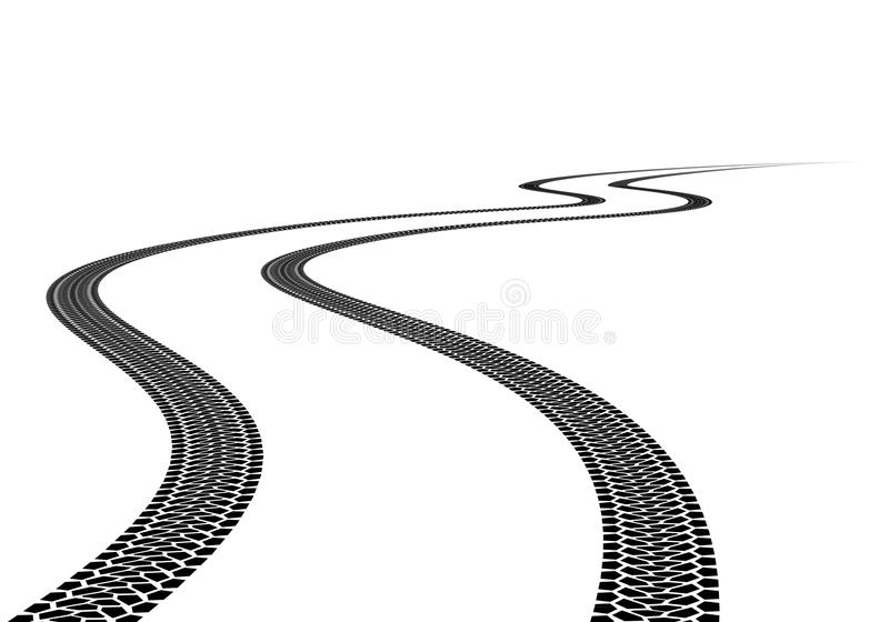 Tire Track. Road Tire Track. Illustration on white background vector illustration
