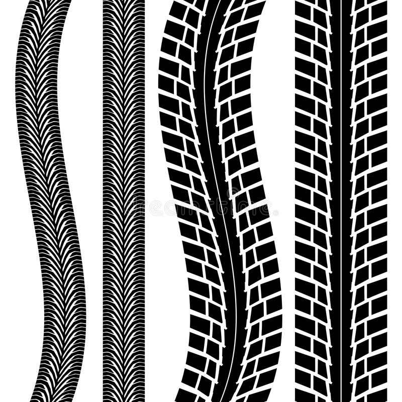 Download Tire track stock vector. Image of race, sports, street - 5640837