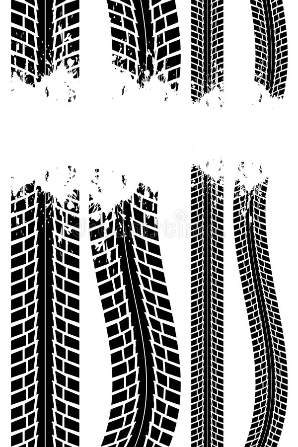 Free Tire Track Royalty Free Stock Photography - 7574297