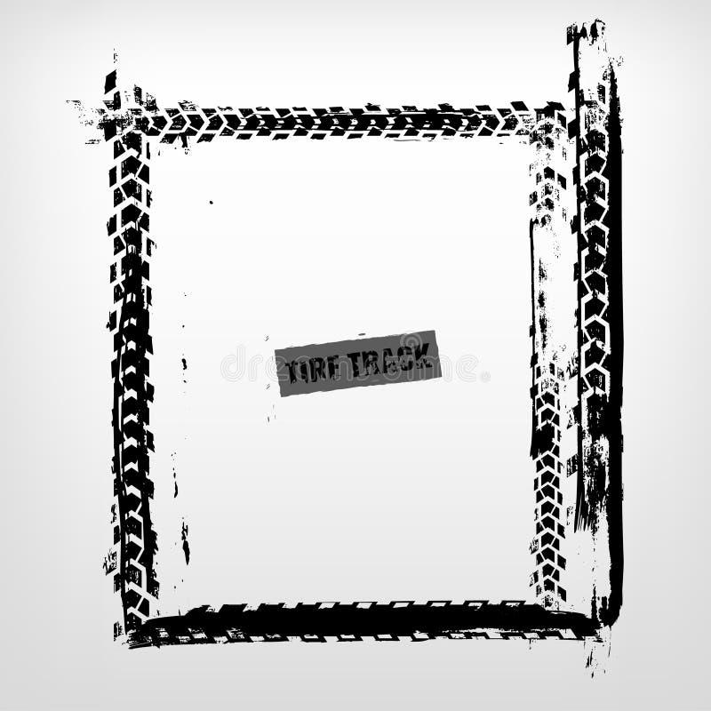 Tire Track Frame royalty free illustration