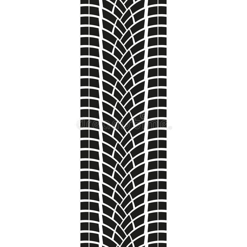 Tire track isolated on white background. Tyre print. Vector illustration. vector illustration