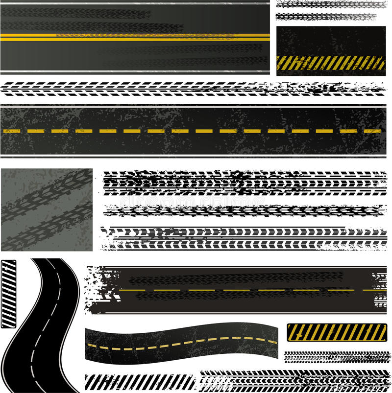 Download Tire Track And Road Collection Stock Photography - Image: 20693802