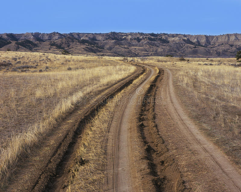 Download Tire Track And Ruts In Dirt Road Royalty Free Stock Images - Image: 12528549