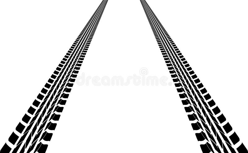 tire tracks stock vector illustration of fast both 23563618 rh dreamstime com tire tracks vector png vector tire tracks free