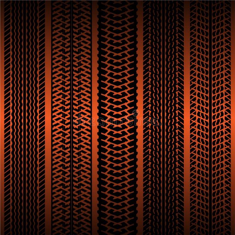 Seamless wallpaper tire tracks pattern stock vector illustration of offroad engine 29298710 - Tire tread wallpaper ...
