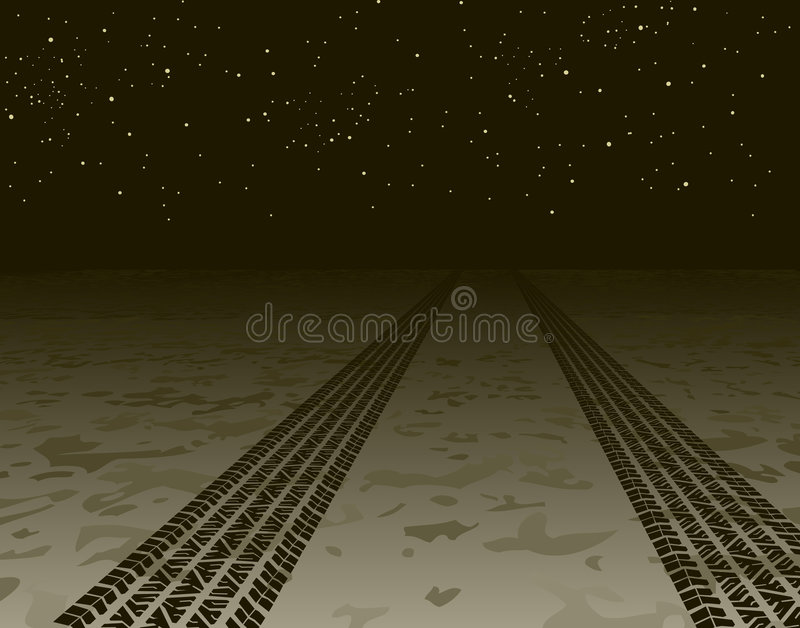 Download Tire tracks stock vector. Image of element, depart, dirt - 5778887