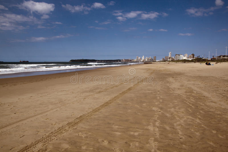 Download Tire Tracks On Beach In Durban South Africa Stock Image - Image of buildings, tyre: 39507491