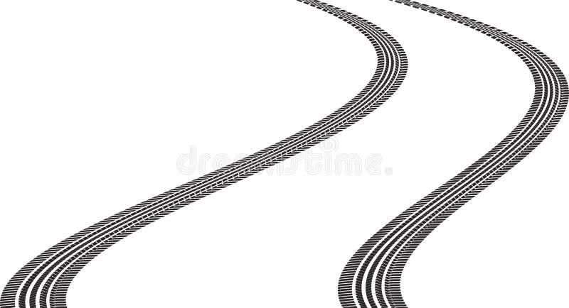 tire tracks stock vector illustration of graphic curve 34721994 rh dreamstime com tire tracks vector brush tire tracks vector free