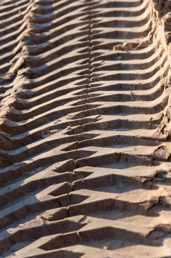 Download Tire Tracks Of An Excavator Stock Image - Image of earth, desert: 22217353