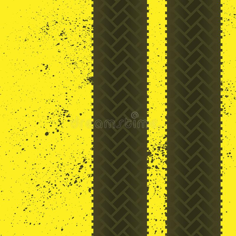 Tire tracks grunge wallpaper vector illustration