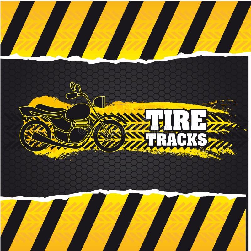 Download Tire tracks stock vector. Image of cartoon, illustration - 32302330