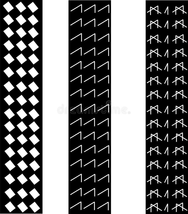 Download Tire tracks pattern stock vector. Image of seamless, road - 23765510
