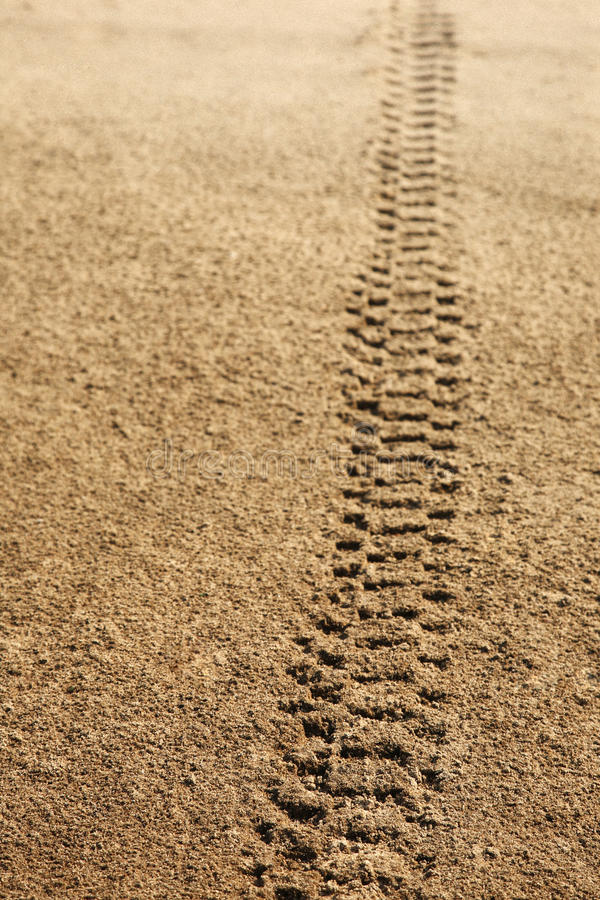Download Tire tracks in sand stock image. Image of roads, barren - 27325027
