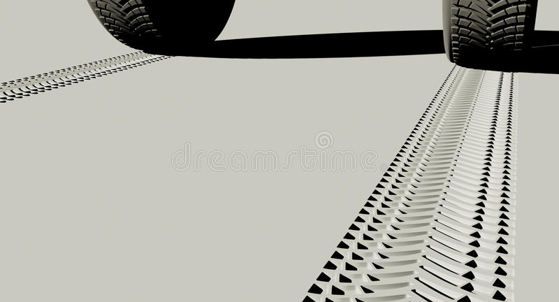 Tire Tread Tracks royalty free illustration