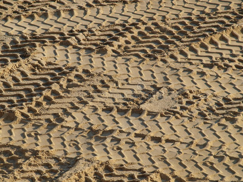 Download Tire tracks in the sand stock image. Image of construction - 38956987
