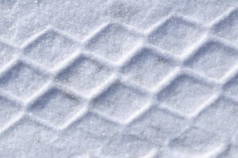 Download Tire Tracks in the Snow stock image. Image of texture - 16900199