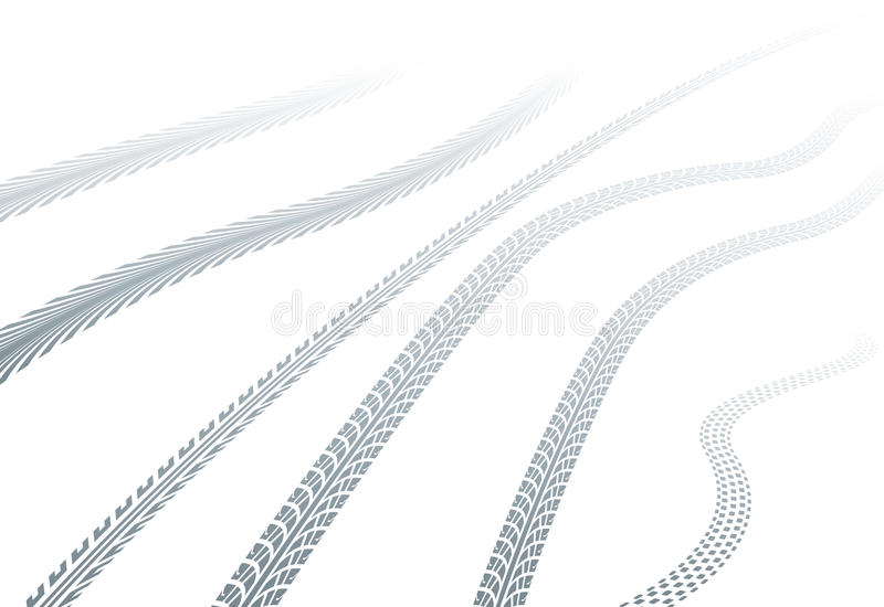 Download Tire tracks on snow stock vector. Image of vanishing - 27870268