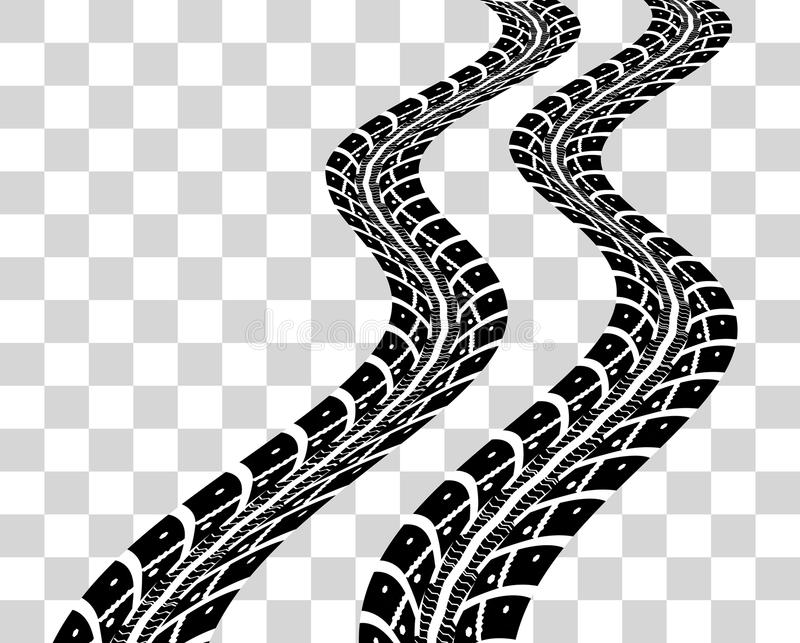 tire tracks vector stock vector illustration of bicycle