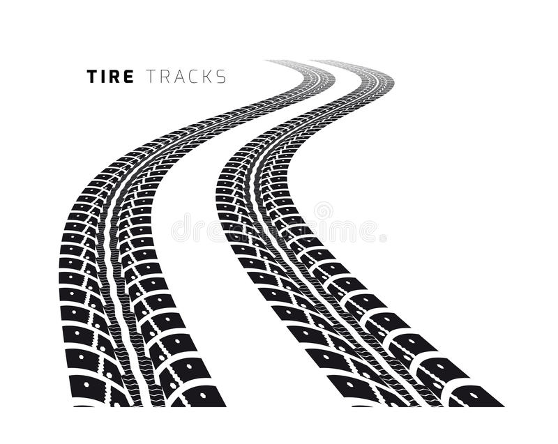 Tire tracks. Vector illustration on white background royalty free illustration