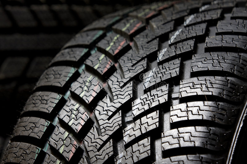 Tire tread close up royalty free stock images