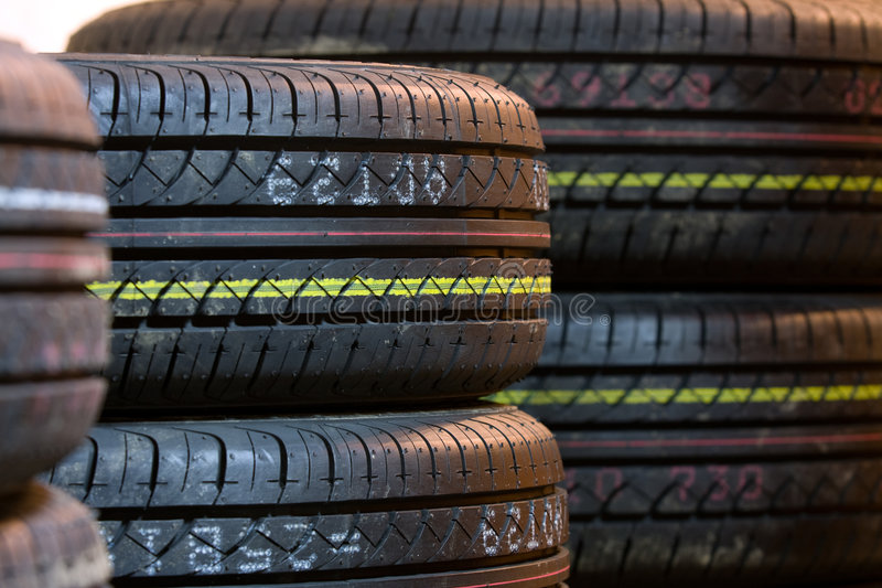 Tire tread close up stock image