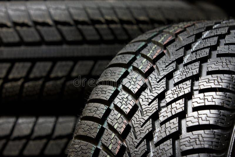 Tire tread close up stock photo