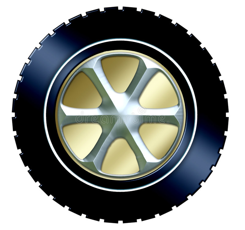 Download Tire w/hubcap stock illustration. Illustration of truck - 539298