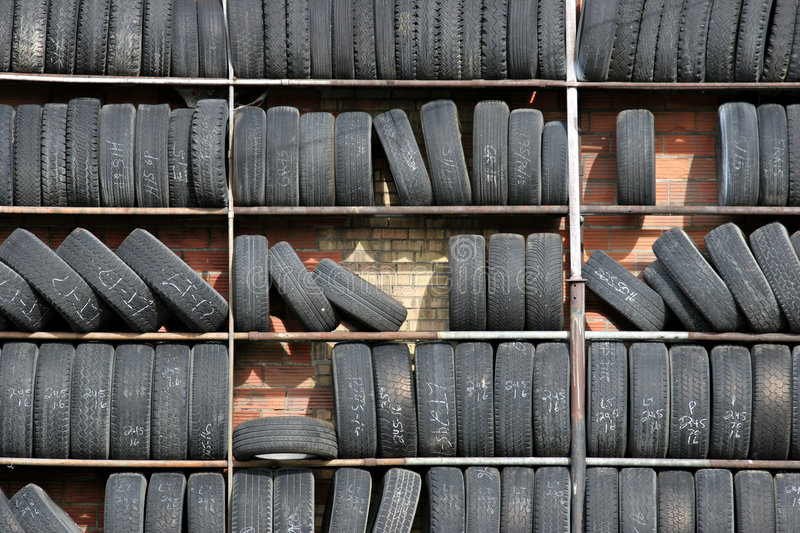 Tire wall royalty free stock image
