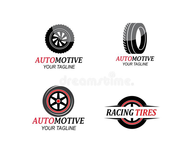 tire,wheels of automotive icon logo vectortemplate vector illustration