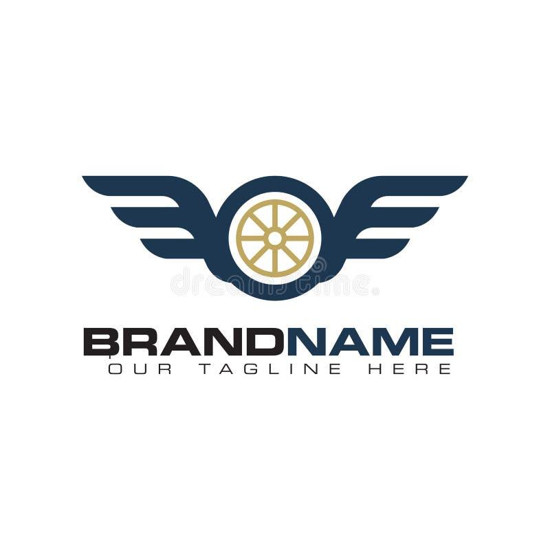 Tire wing logo stock illustration