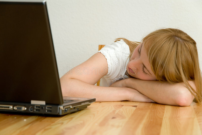 Download Tired stock photo. Image of enjoyment, computer, overworked - 1022064