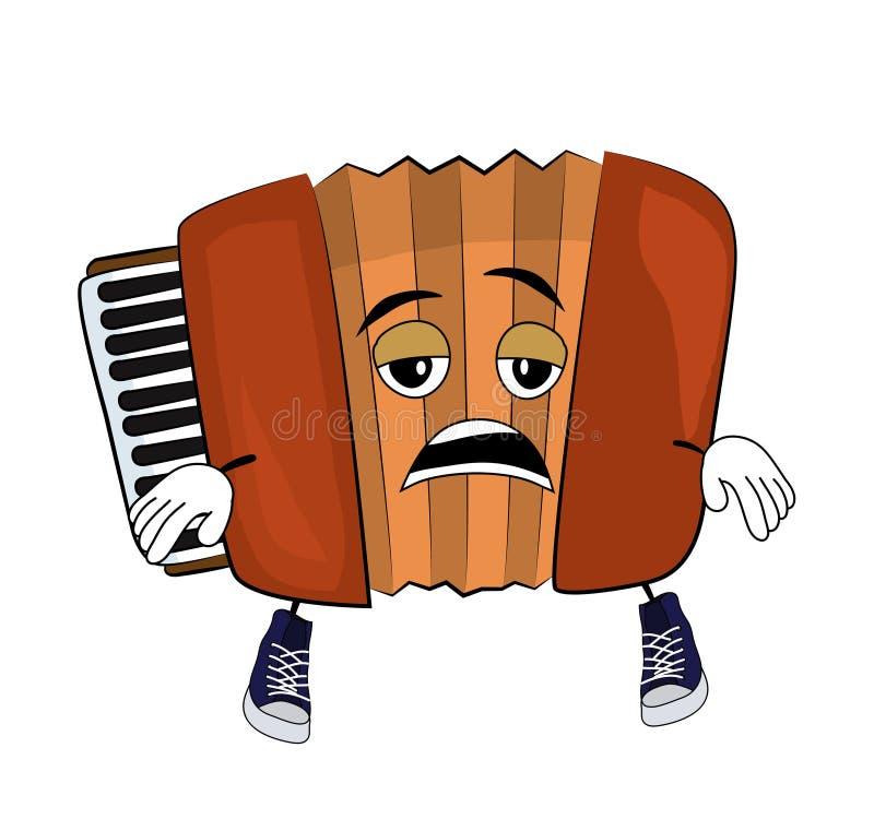 Tired Accordion illustration. Vector illustration of tired accordion illustration royalty free illustration