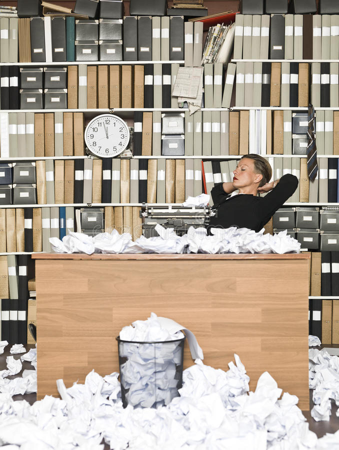 Tired Author. With writer cramp royalty free stock images