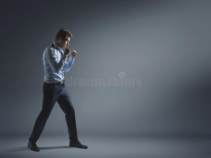 Download Tired Banker During Fight For Success Stock Photo - Image: 40910078