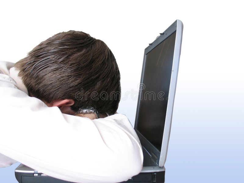 Download Tired - bluish background stock photo. Image of laptop - 119994