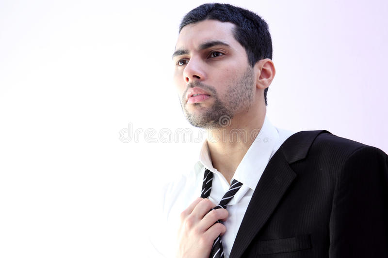 Tired business man stock images