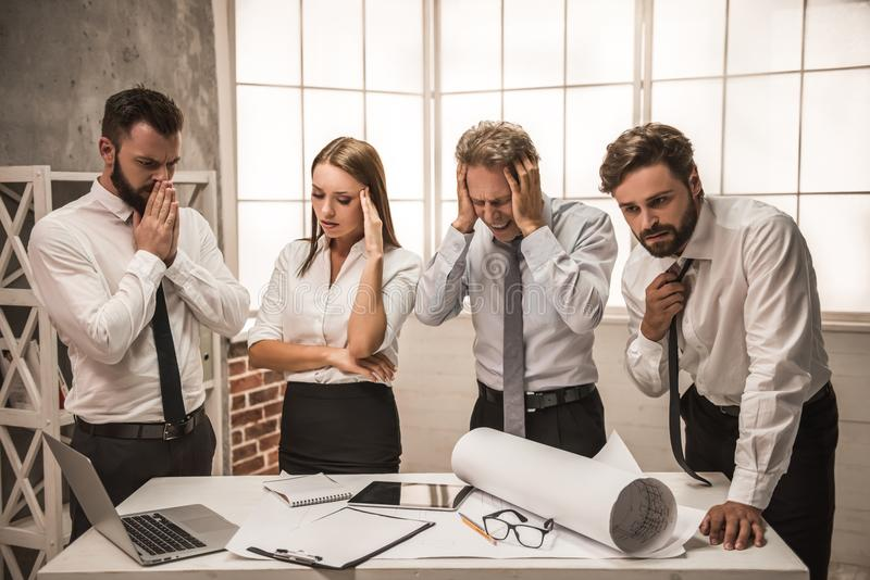 Business people working royalty free stock image