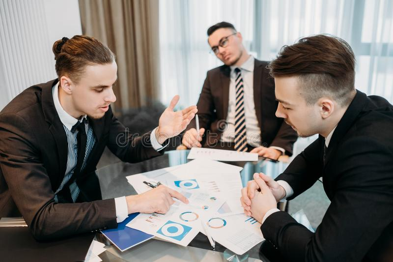 Tired business blank look bored company meeting. Tired of business. vacant blank look. indifferent uninterested ineffective worker. professional inefficiency royalty free stock image
