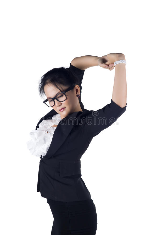 Download Tired Business Woman Stretching Stock Photo - Image: 28061196