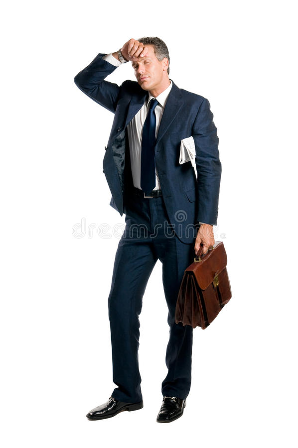 Download Tired businessman stock image. Image of expression, looking - 10189283