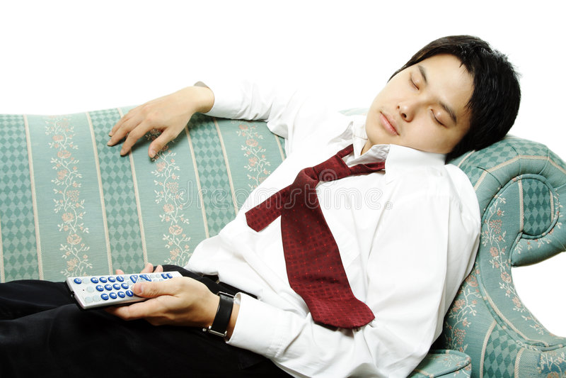 Tired businessman stock photos