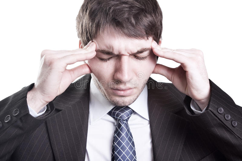 Download Tired Businessman Having A Headache Stock Photo - Image: 14508502