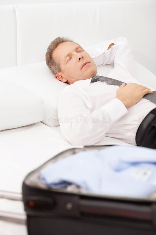 Tired Businessman Sleeping. Stock Photography - Image ...