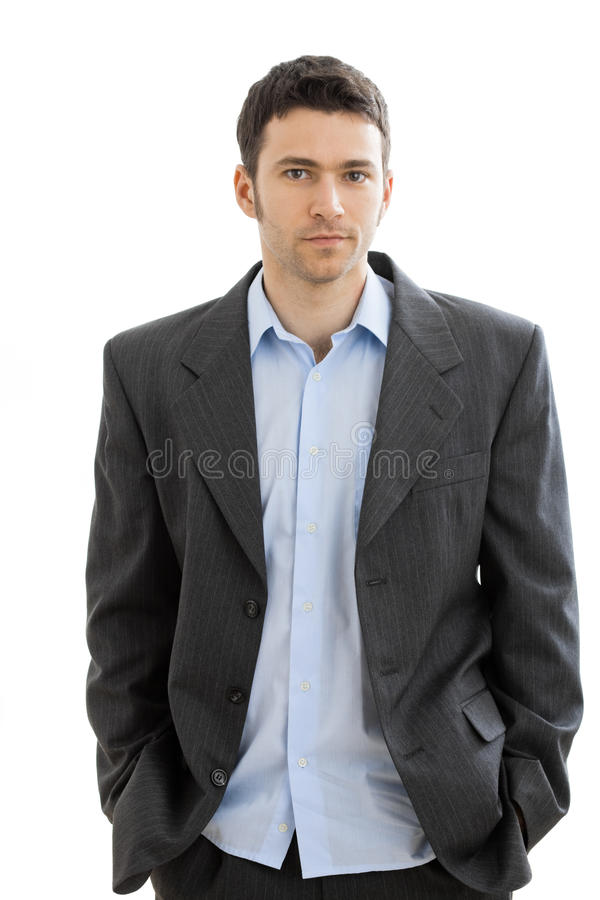 Tired businessman after work royalty free stock photography