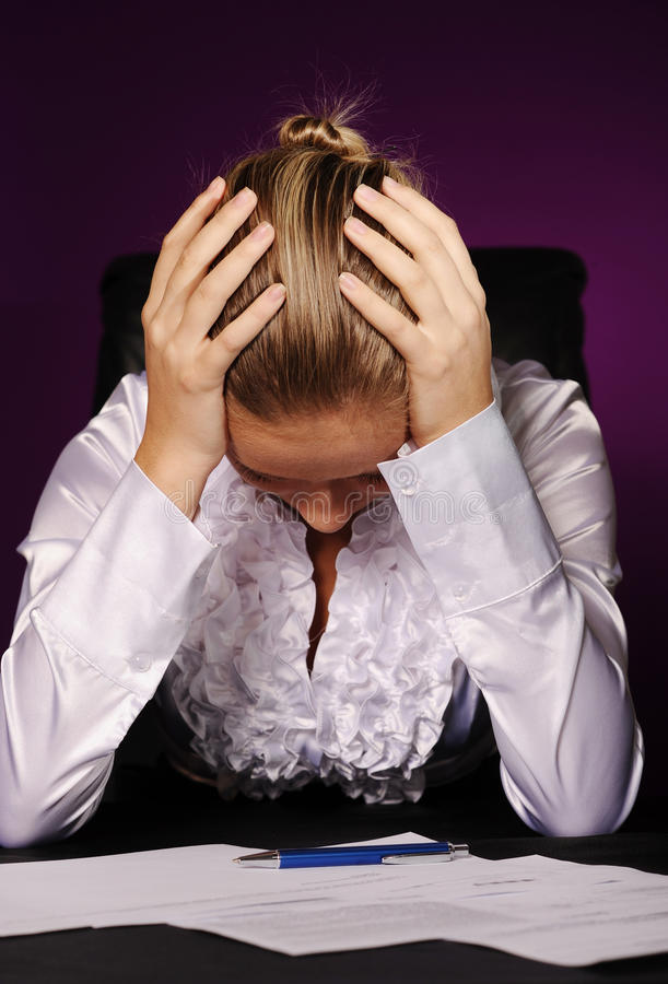 Download Tired businesswoman stock image. Image of head, concepts - 17206131