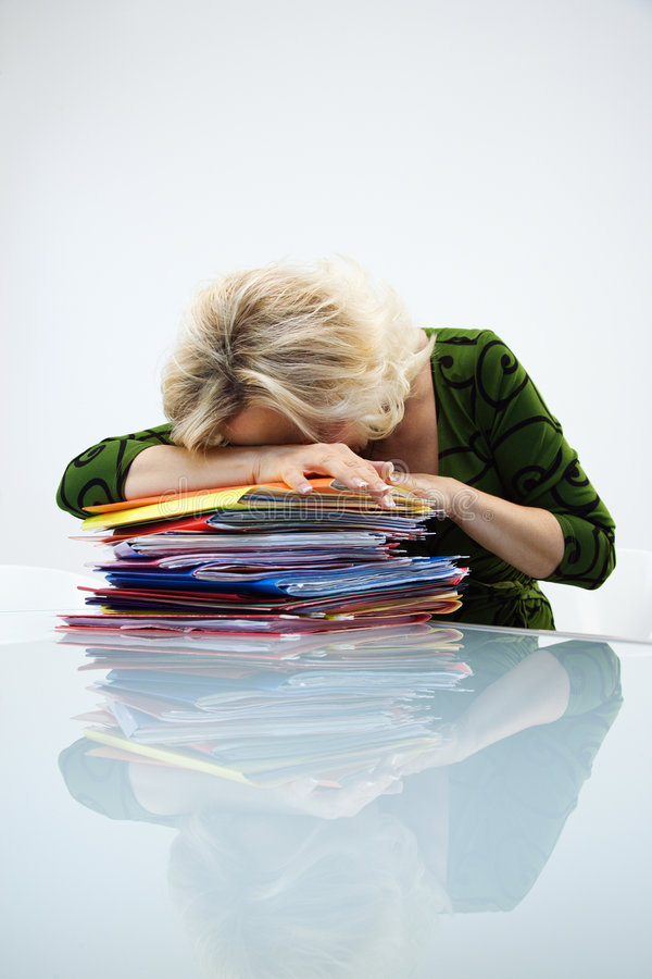 Download Tired businesswoman stock image. Image of person, adult - 4996887