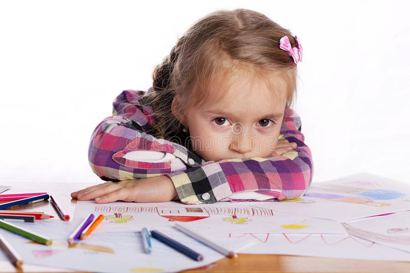 Download A Tired Child - An Artist With A Sketch Stock Photo - Image: 26339508