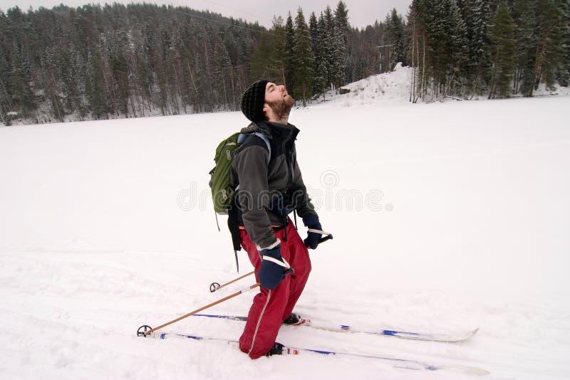 Tired Cross Country Skiier