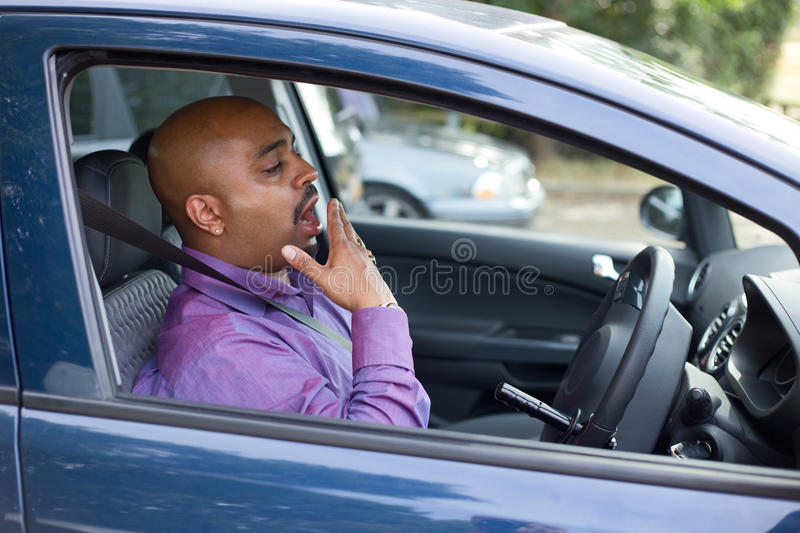 Tired driver royalty free stock photos